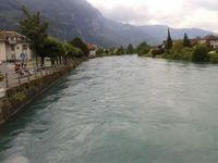 Countryside of Switzerland - river