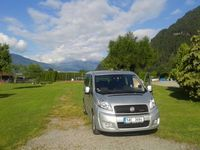 Countryside of Switzerland - Fiat car in a camp